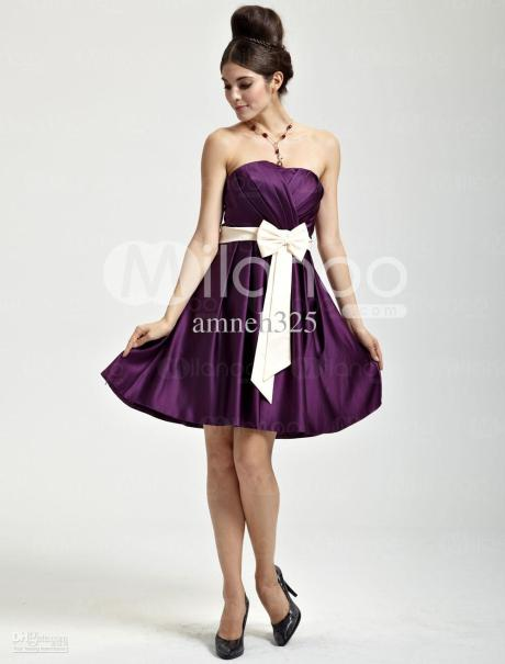 2013-cute-graduation-dresses-purple-strapless